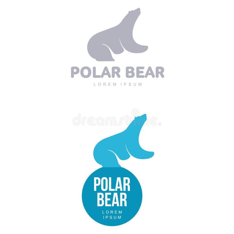 北极熊商标 皇族释放例证