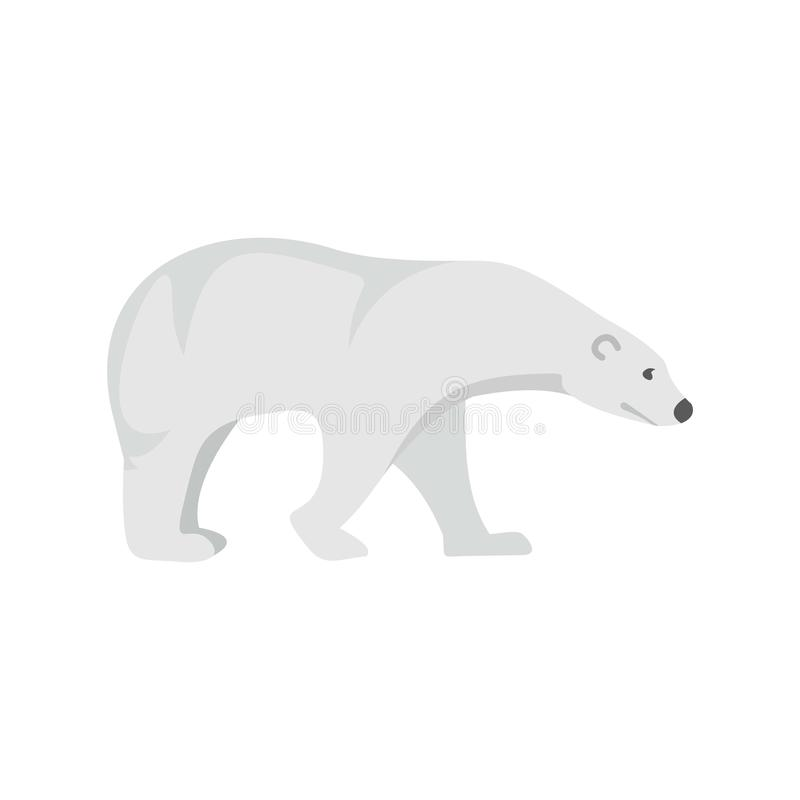 北极熊象,平的样式 库存例证
