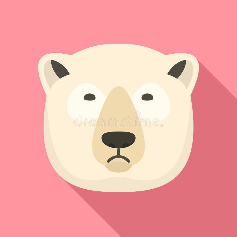 北极熊象,平的样式 皇族释放例证