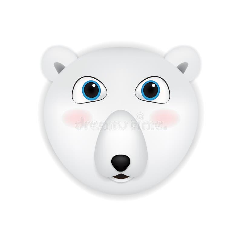 北极熊顶头动画片 皇族释放例证
