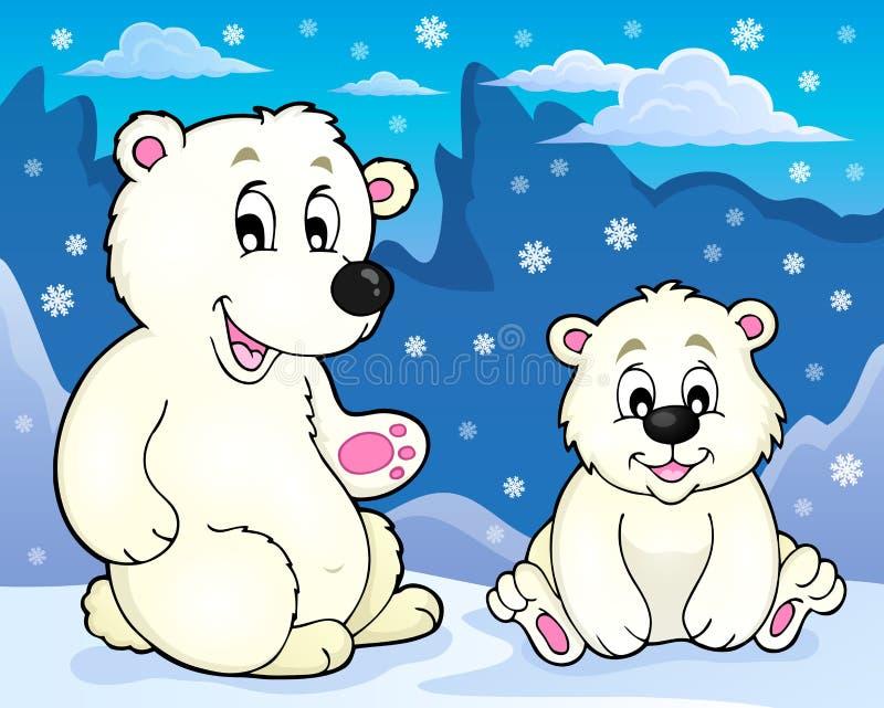北极熊题材图象2 向量例证