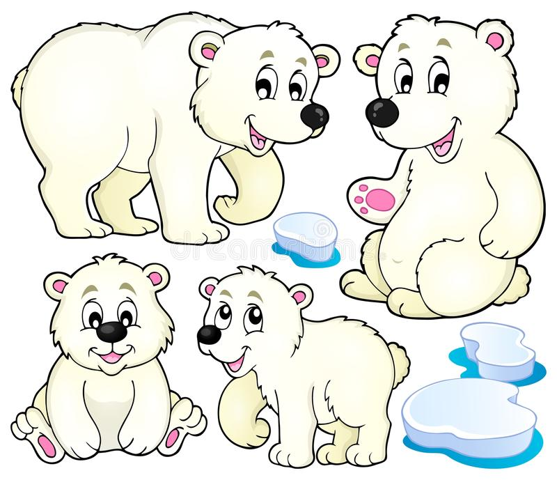北极熊题材汇集1 向量例证