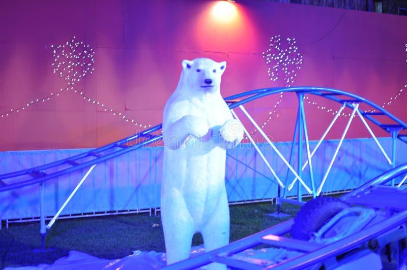 北极熊-从圣诞老人土地,爱丁堡 免版税库存图片