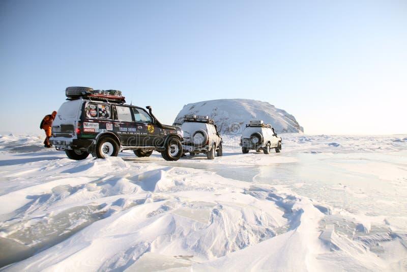 北极远征 库存图片