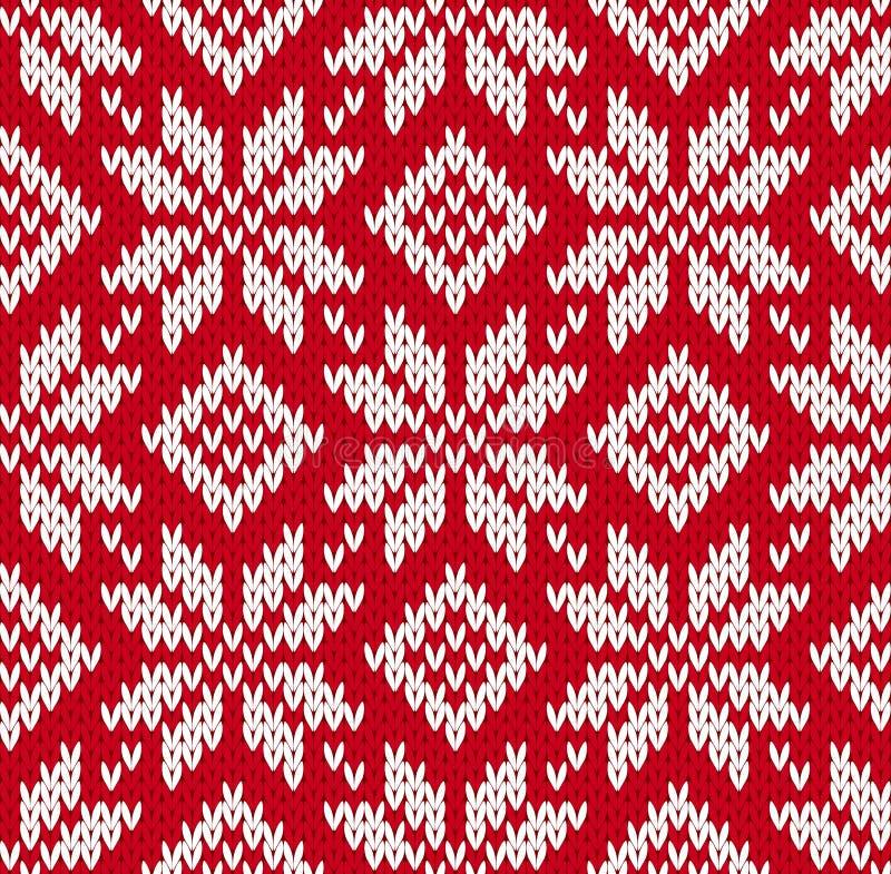 北欧人被编织的无缝的样式 向量例证