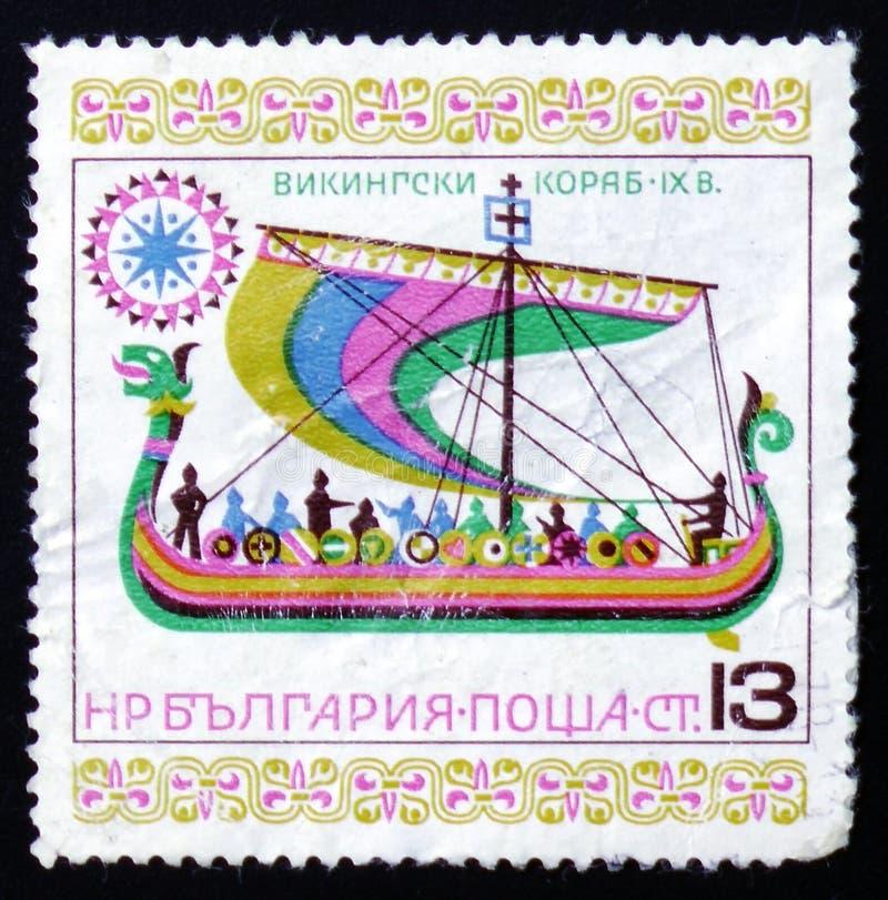 北欧海盗帆船IX世纪 免版税库存照片