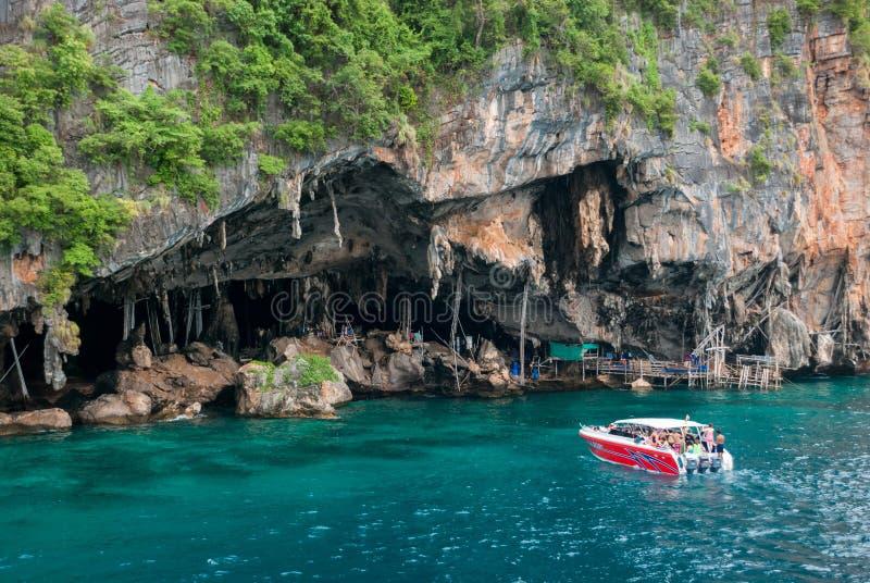 北欧海盗洞,甲米府,泰国 免版税库存照片