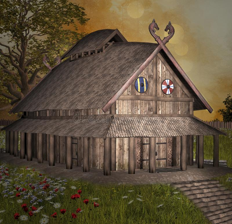 北欧海盗的房子 皇族释放例证