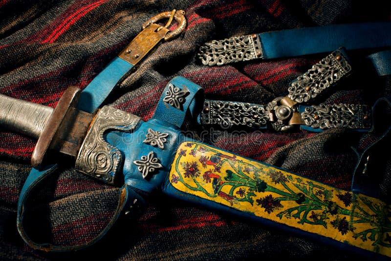 北欧海盗的衣物辅助部件  免版税库存照片