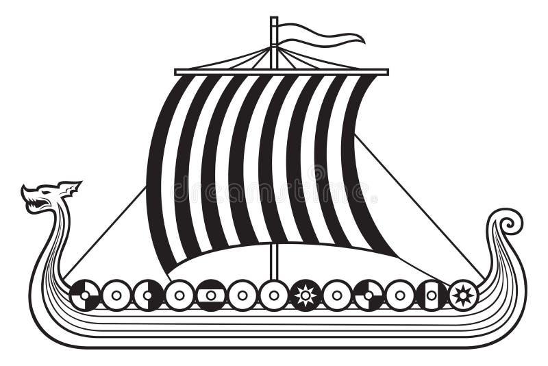 北欧海盗船 库存例证