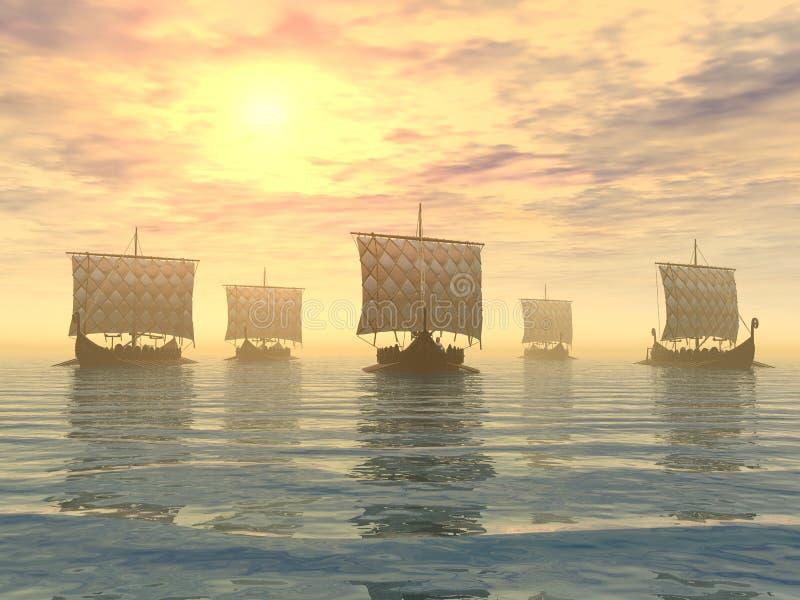 北欧海盗船 皇族释放例证