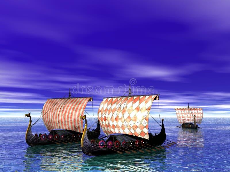 北欧海盗 皇族释放例证
