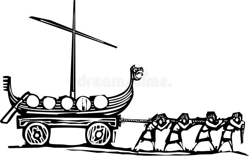 北欧海盗Thralls 向量例证