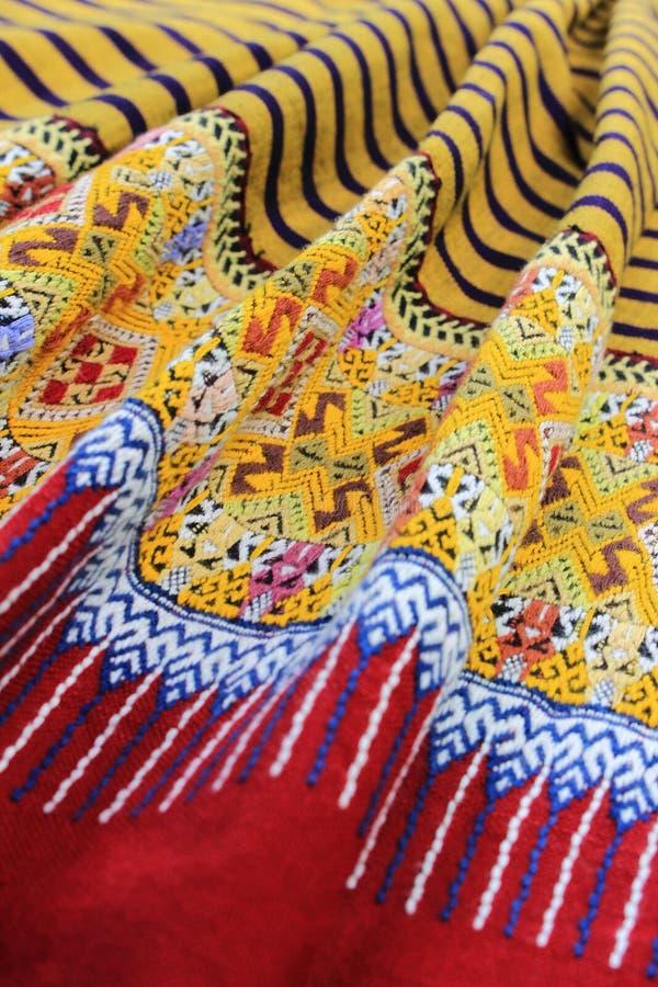 北泰国传统布裙,清迈泰国 库存图片