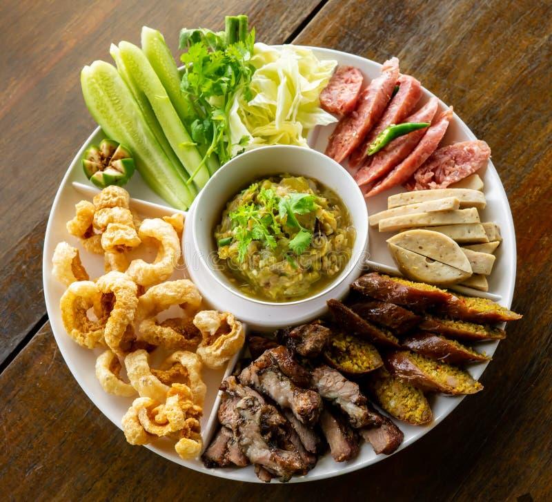 北泰国食物 库存照片
