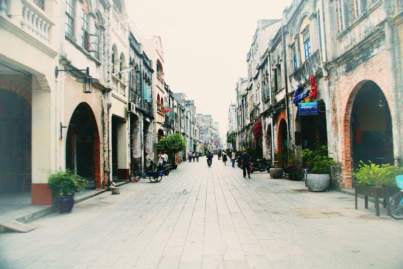 北海老街道,广西 免版税库存图片