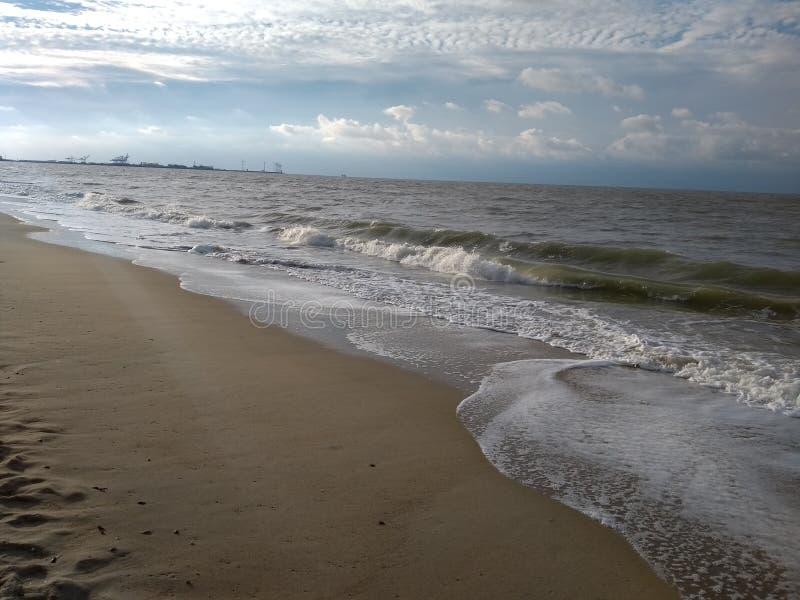 北海门罗海滩布鲁日比利时 免版税库存图片