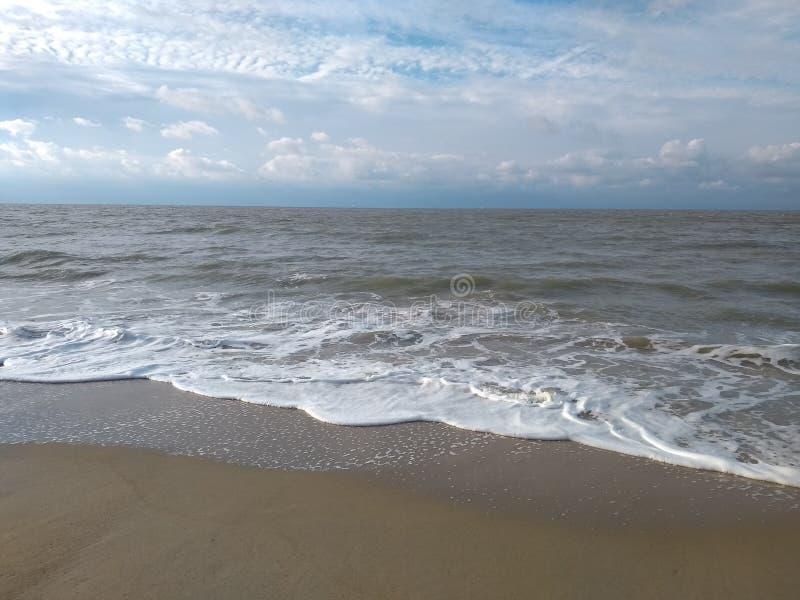 北海门罗海滩布鲁日比利时 库存图片