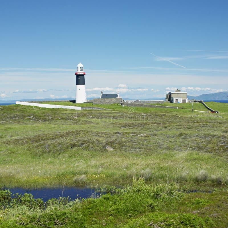 北爱尔兰的灯塔 免版税库存照片