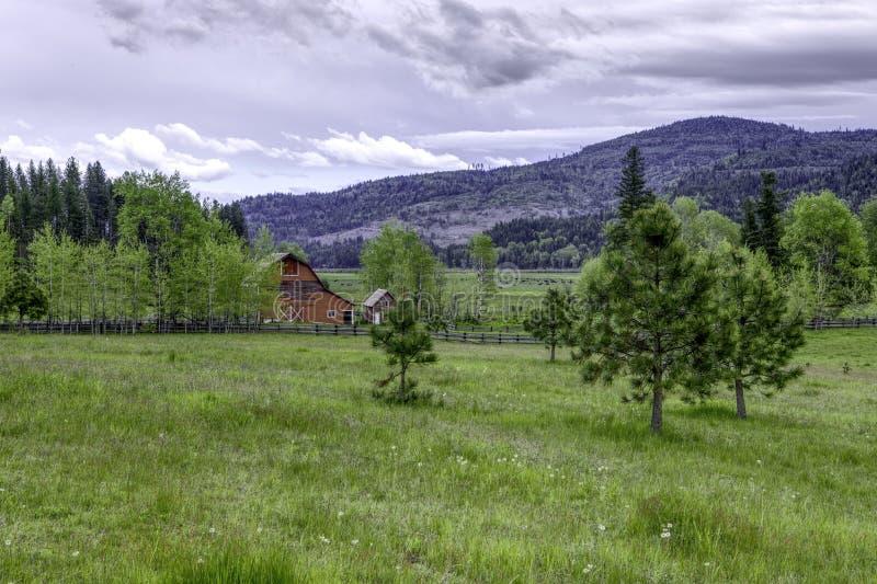 北爱达荷州农场地 免版税库存照片