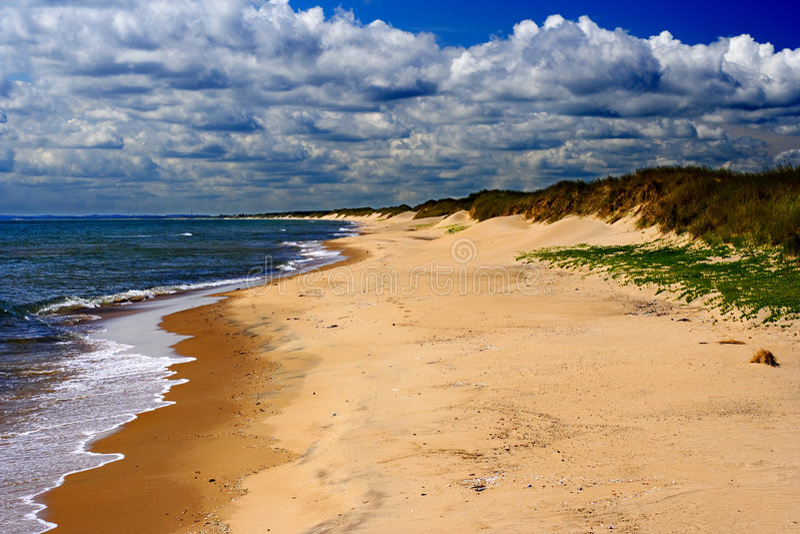 北的海滩 免版税库存图片