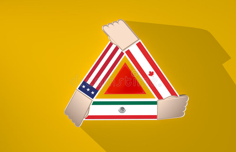 北美国家合作 免版税库存图片