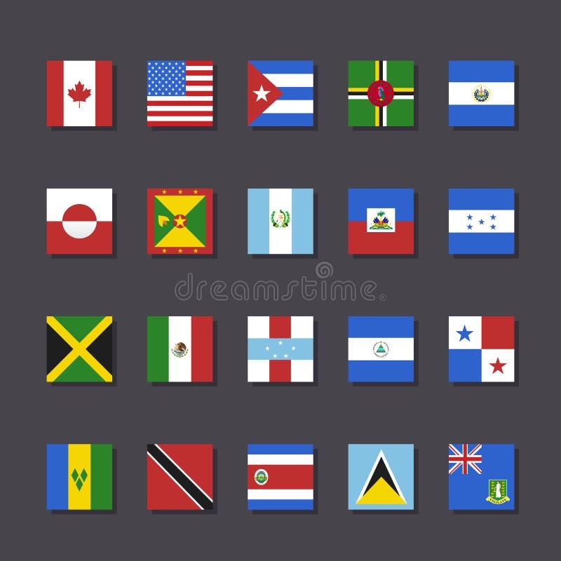 北美旗子象集合地铁样式 皇族释放例证
