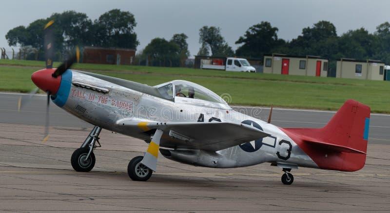 北美洲P51D野马长距离第二次世界大战战斗机被修造对英国规格 库存图片