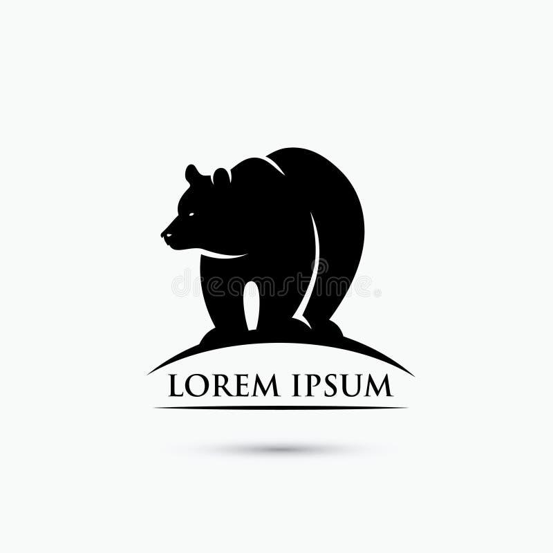 北美灰熊标志-传染媒介例证 皇族释放例证