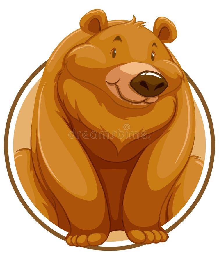北美灰熊涉及圈子横幅 皇族释放例证