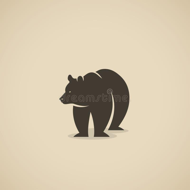 北美灰熊-传染媒介例证 向量例证