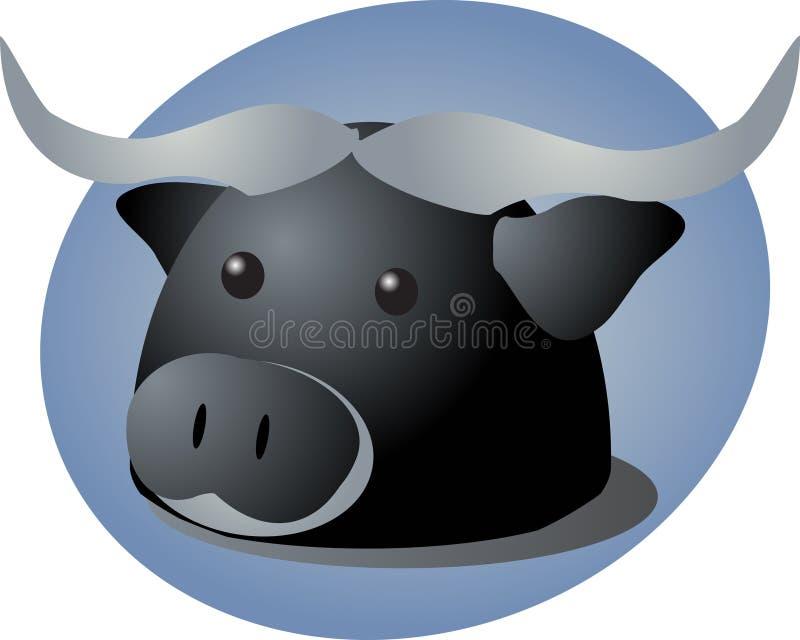 北美野牛动画片 向量例证