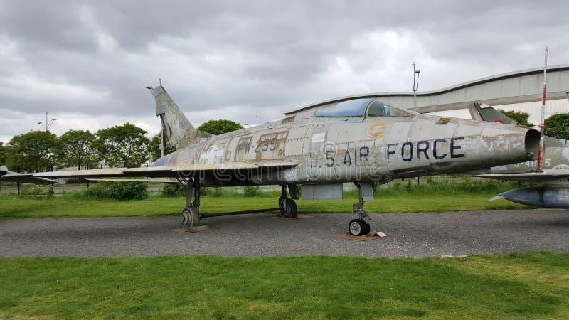 北美F-100D超级马刀 库存图片