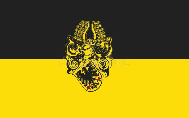北豪森县图林根州,德国旗子  免版税库存照片