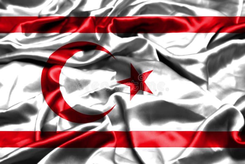 北赛普勒斯土耳其共和国沙文主义情绪在风 向量例证