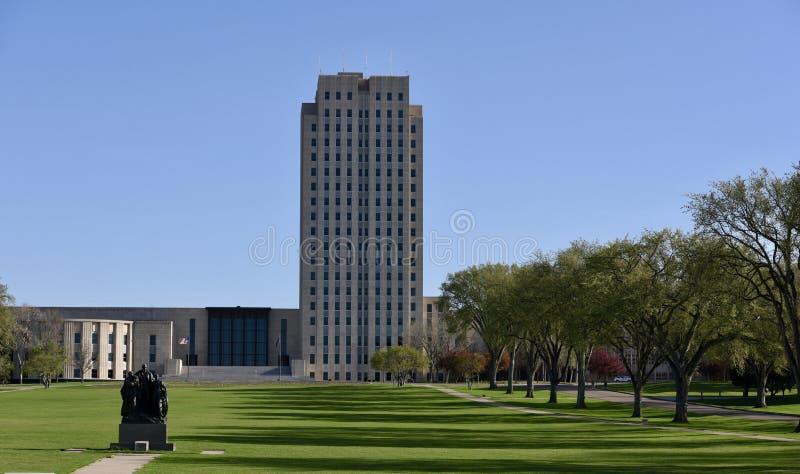 北达科他国会大厦  免版税库存照片