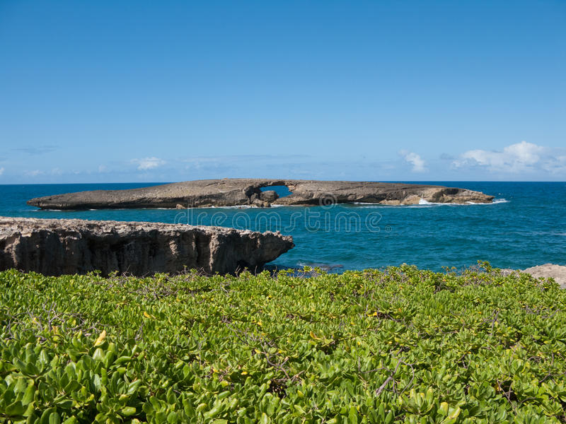 北部奥阿胡岛岸 库存图片