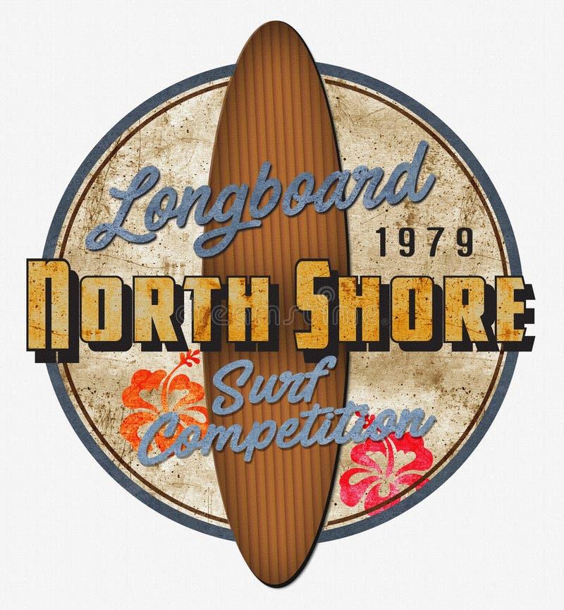 北部岸海浪竞争减速火箭的艺术 皇族释放例证
