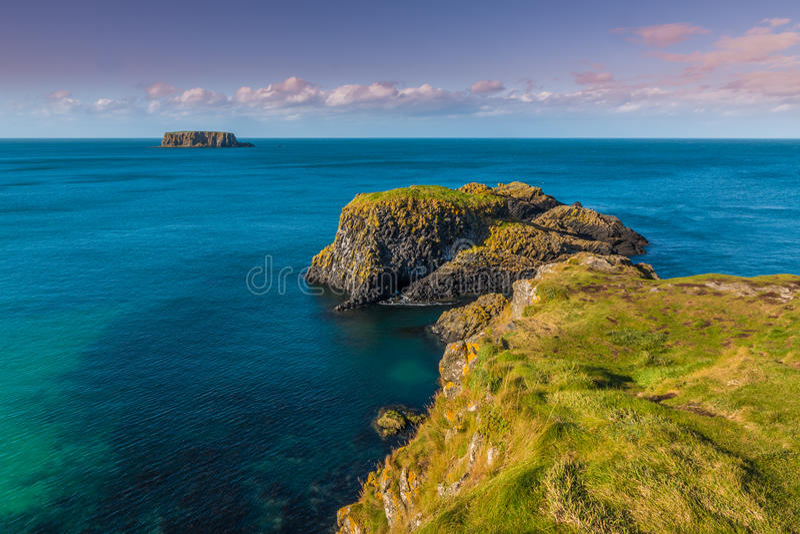 北部爱尔兰的海岛 免版税库存图片
