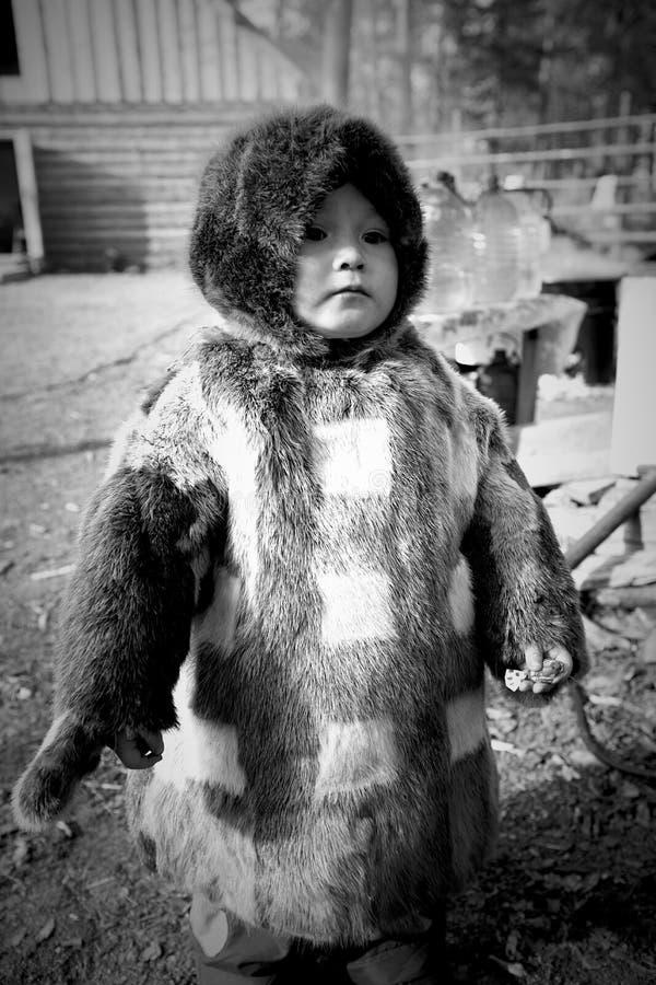 北部的Khanty土著人民 库存照片