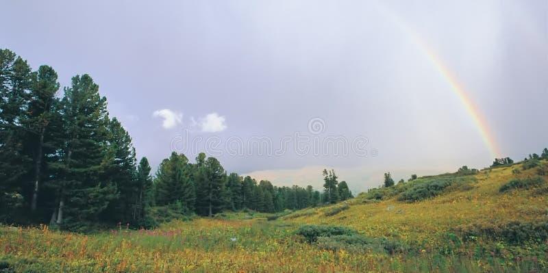 北部秋季横向的山 库存照片
