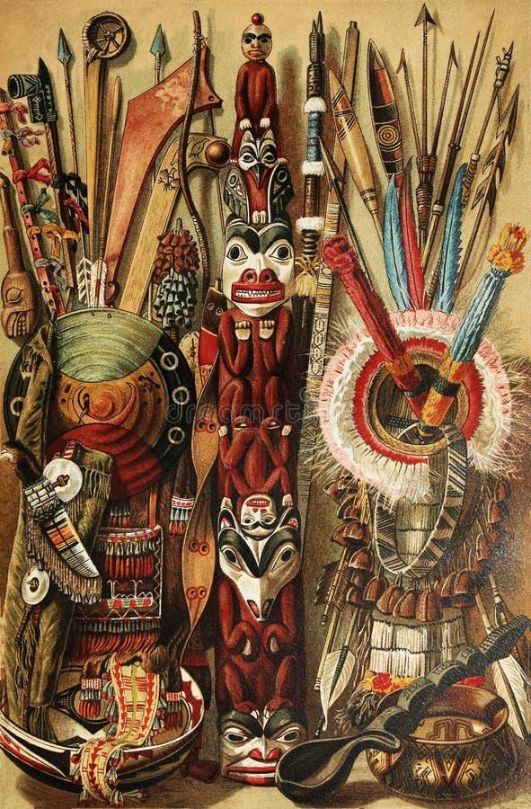 北部美国文化的印地安人 图库摄影