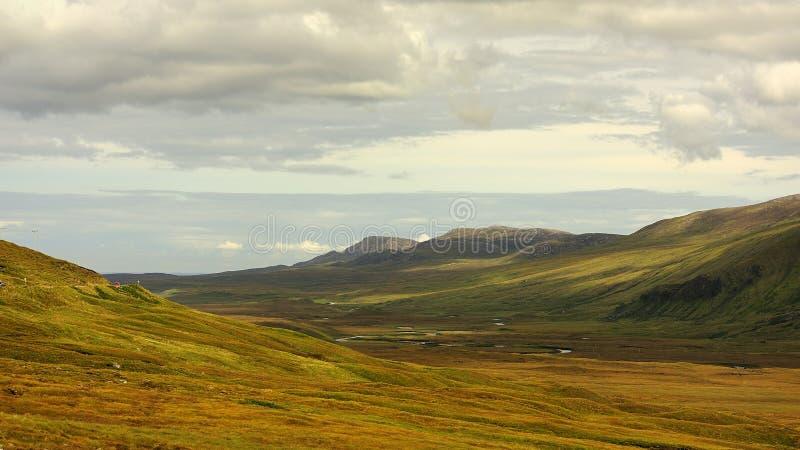 北部苏格兰西方的sutherland 库存图片