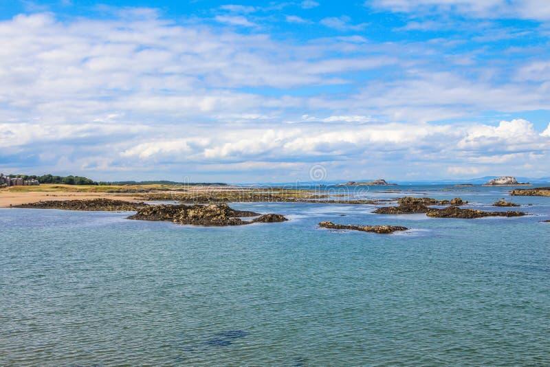 北部贝里克,东洛锡安,大众湾的南岸的,苏格兰 库存照片