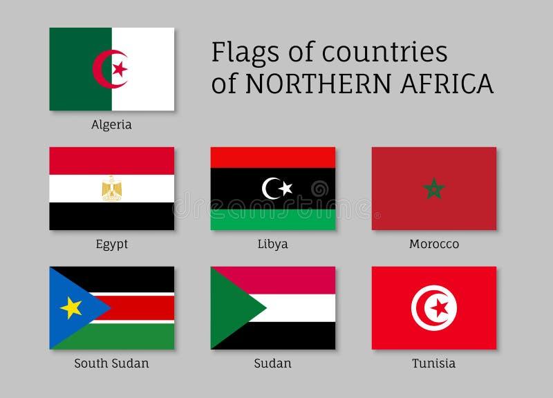 北非洲旗子集合 皇族释放例证
