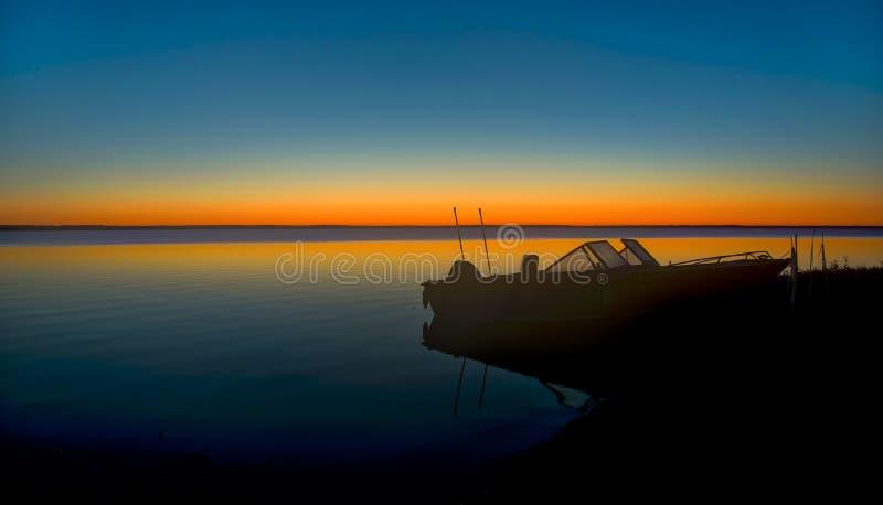 北Michigan湖日出 图库摄影