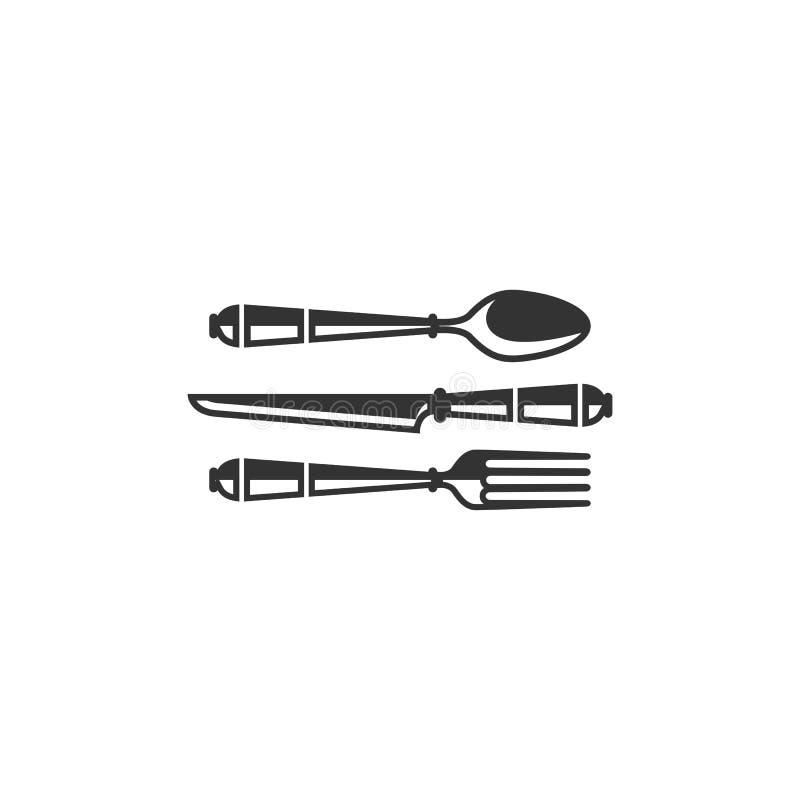匙子叉子刀子传染媒介例证 向量例证