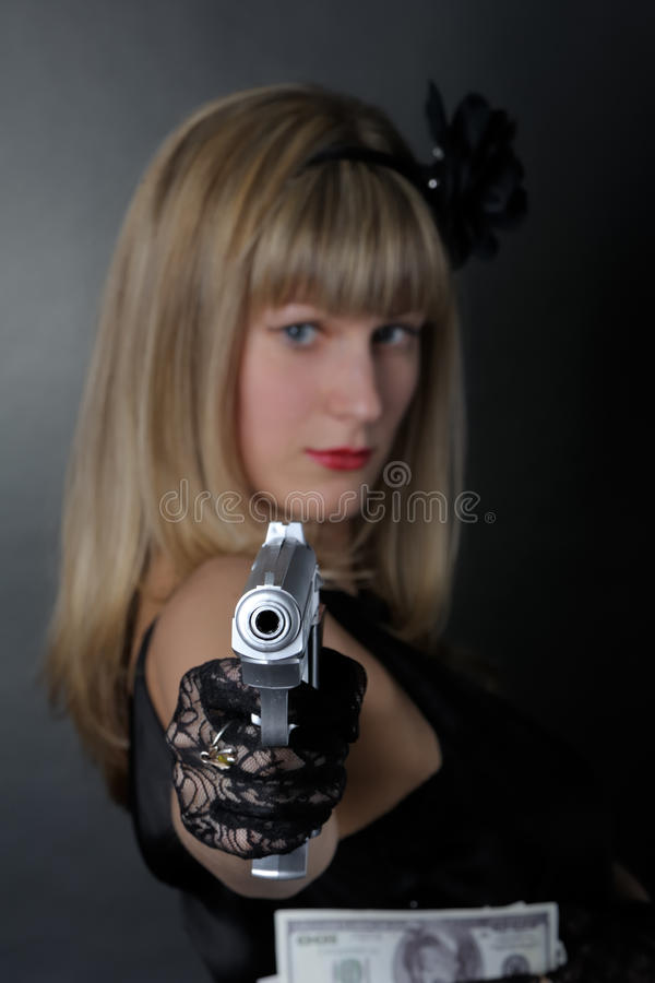 匪徒妇女 免版税图库摄影