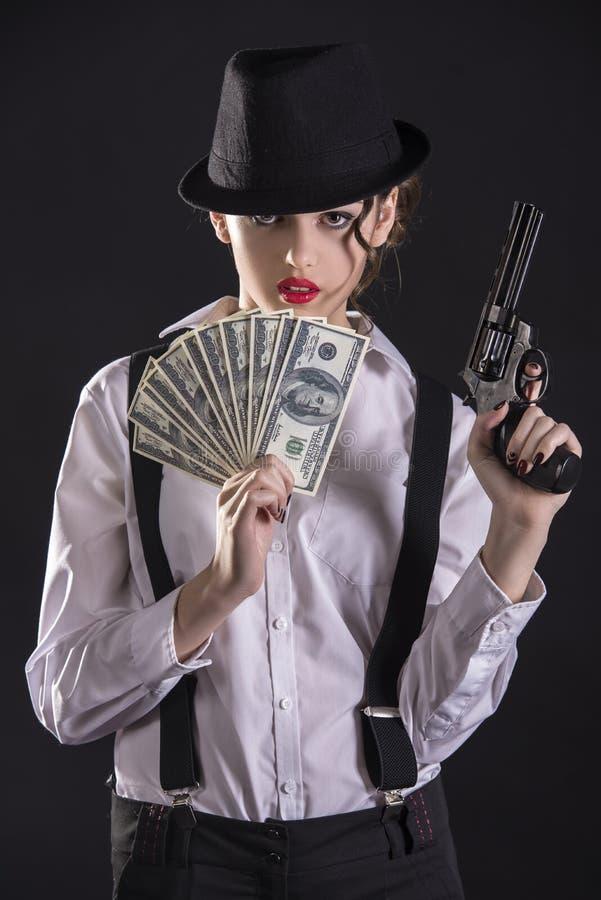 匪徒妇女 免版税库存图片