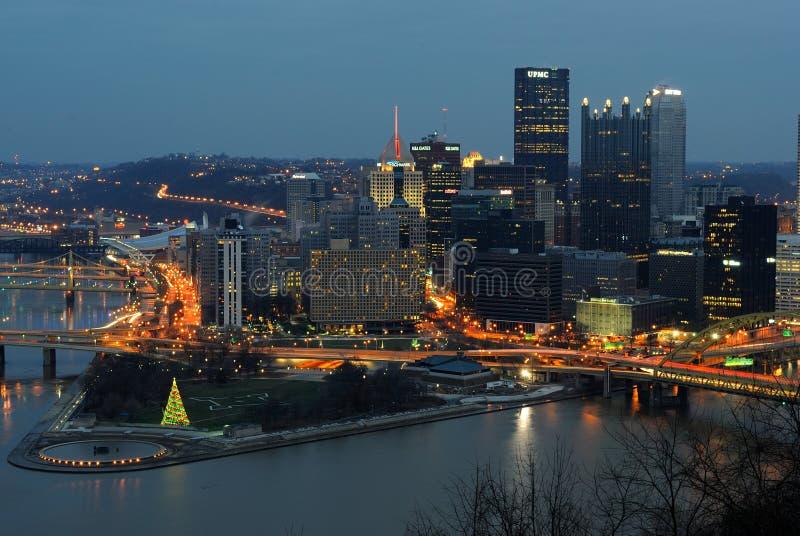 匹兹堡地平线 免版税库存图片
